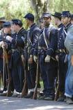 Re-Enactment 36 da guerra civil - soldados da união Fotografia de Stock Royalty Free