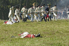 Re-enactment of Attack on Redoubts 9 & 10 Stock Images