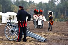 Re-enactment Austerlitz, the Netherlands 2008 Stock Photography