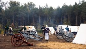 Re-enactment Austerlitz, the Netherlands 2008 Stock Photos