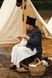 Re-enactment Austerlitz, the Netherlands 2008 stock photo