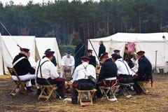 Re-enactment Austerlitz, o 2008 holandês foto de stock royalty free