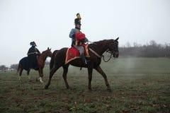 Re-enactment of the Battle of Austerlitz (1805), Czech Republic. royalty free stock images