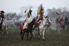 Re-enactment of the Battle of Austerlitz (1805), Czech Republic. royalty free stock image