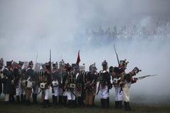 Re-enactment of the Battle of Austerlitz (1805), Czech Republic. Stock Images