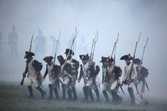 Re-enactment of the Battle of Austerlitz (1805), Czech Republic. Stock Image