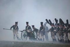 Re-enactment of the Battle of Austerlitz (1805), Czech Republic. Stock Photos
