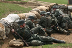 Re-enactment of the Battle at Orechov Stock Photos