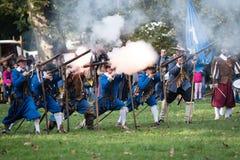 Re-enactment of battle for Pressburg at Bratislava, Slovakia on September 30, 2017 Stock Photos
