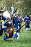 Re-enactment of battle for Pressburg at Bratislava, Slovakia on September 30, 2017 Stock Image