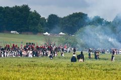 Re-enactment Battle of Waterloo, Belgium 2009 Stock Photos