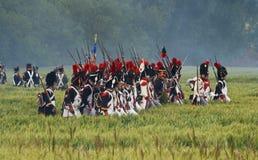 Re-enactment Battle of Waterloo, Belgium 2009 Stock Images