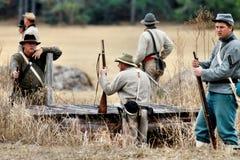 Re-enactment da invasão de Brooksville Fotografia de Stock Royalty Free
