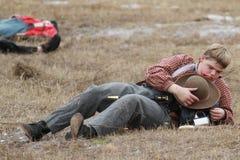 Re-enactment da invasão de Brooksville Foto de Stock