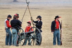 Re-enactment da invasão de Brooksville Imagem de Stock