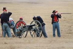 Re-enactment da invasão de Brooksville Imagens de Stock