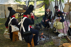 Re-enactment: Replay of Napoleonic period Stock Photos