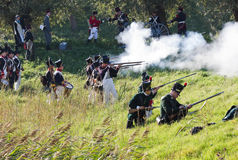 Re-enactment: Replay of Napoleonic period Stock Photo