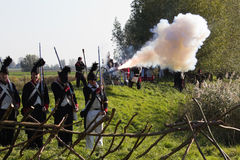 Re-enactment: Replay of Napoleonic period Royalty Free Stock Image