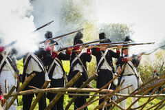 Re-enactment: Replay of Napoleonic period Stock Images