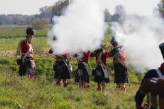 Re-enactment: Replay of Napoleonic period Stock Photo
