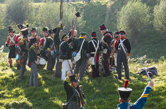 Re-enactment: Replay of Napoleonic period Stock Image