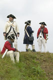 Re-enactment of Revolutionary War Encampment demonstrates camp life of Continental Army as part of the 225th Anniversary of the Si Stock Images