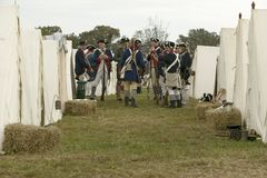 Re-enactment of Revolutionary War Encampment demonstrates camp life of Continental Army as part of the 225th Anniversary of the Si Stock Photos