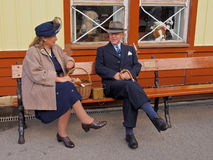 Re-enactment 1940 weekend, Embsay, Yorkshire, UK Royalty Free Stock Images