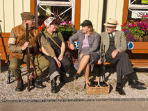 Re-enactment 1940 weekend, Embsay, Yorkshire, UK Stock Photo