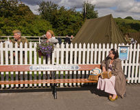 Re-enactment 1940 weekend, Embsay, Yorkshire, UK Stock Photography