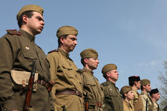 Re-enactment of the WWII Battle at Orechov Stock Photos