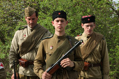 Re-enactment of the WWII Battle at Orechov Royalty Free Stock Photography