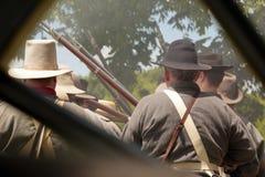 Re-enactmet гражданской войны Стоковое Фото