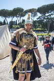 Re-enactor at the celebrations for the Birthday of the city of Rome Stock Photography