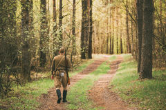 Re-enactor Dressed As Soviet Russian Red Army Infantry Soldier O Royalty Free Stock Photo