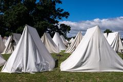 Re enactor Tents Royalty Free Stock Images