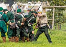 Union Army Sharpshooters of the American Civil War. Royalty Free Stock Photography