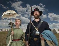 Re-enactors en Gettysburg Fotografía de archivo libre de regalías