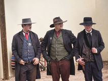 Re-enactors of the Gunfight at the OK Corral in Tombstone Arizona Royalty Free Stock Images