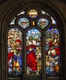 Re Ferdinand cattedrale Spagna di Salamanca di 1559 vetri macchiati nuova fotografie stock libere da diritti
