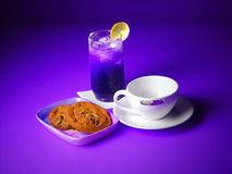 Re-Fresh your self. Rejuvinate your spirits with  chilled ice tea beverage Royalty Free Stock Image