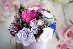 Paper flowers are perfect for bringing spring inside any time of the year. They`re fun to create, look beautiful once complete and, better still, they last stock photos