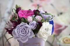 Paper flowers are perfect for bringing spring inside any time of the year Royalty Free Stock Images