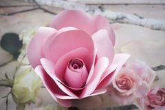 Paper flowers are perfect for bringing spring inside any time of the year Royalty Free Stock Photo
