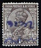 Re George V con la corona indiana del ` s dell'imperatore, serie 1926-36 di Definitives, circa 1979 Fotografie Stock Libere da Diritti
