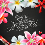 We're getting married Royalty Free Stock Images