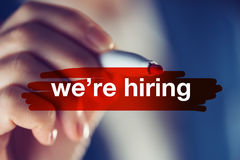 We`re hiring concept Stock Photos