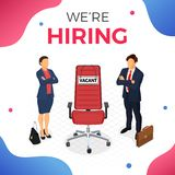 Isometric Employment and Hiring Concept royalty free illustration