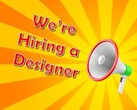 We're hiring a designer. Magaphone 3d rendering Stock Images
